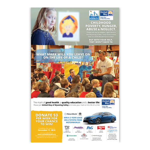 United Way of Wyoming Valley Poster & Mailer