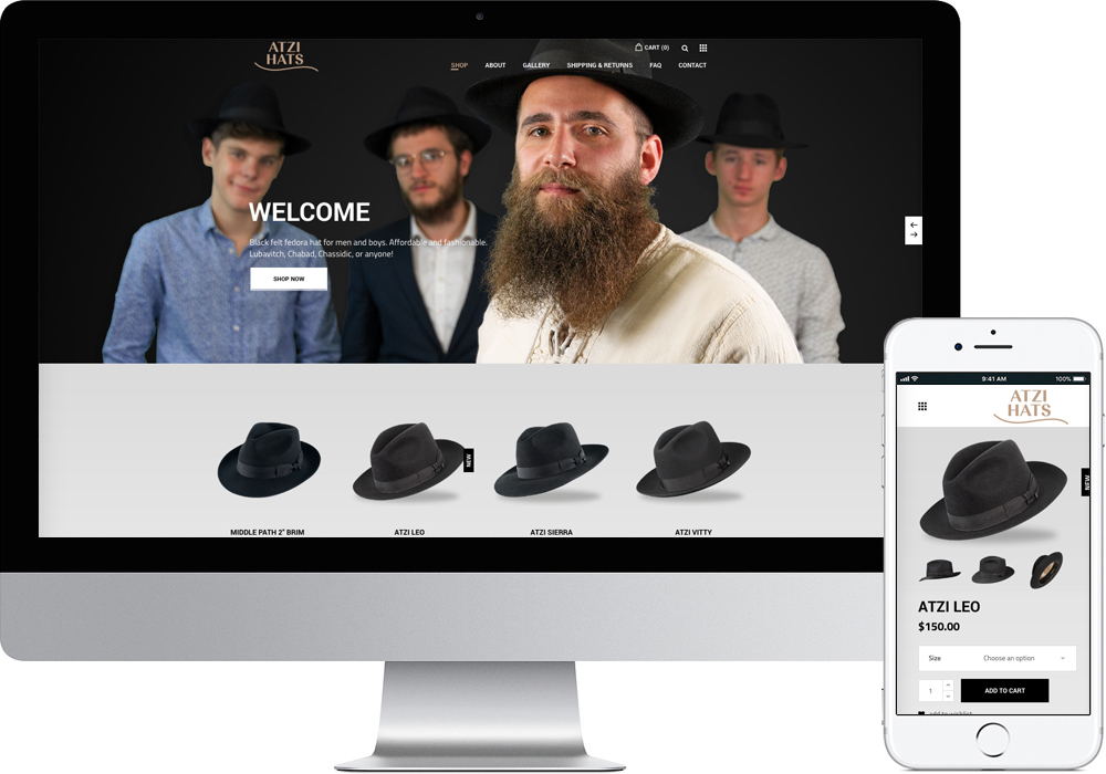Atzi Hats Mobile Friendly Website Design Wilkes Barre Pennsylvania Online Store