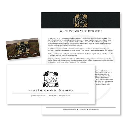 Legacy in a Glass Stationery Package
