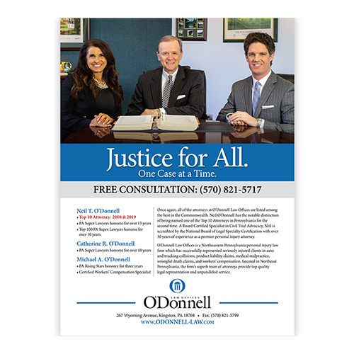 O'Donnell Law Super Lawyers Ad
