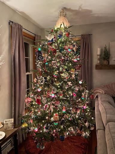 One of Camaryn's 4 Christmas trees!