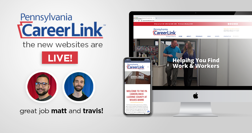 Coal Creative - The new PA Careerlink websites are live! Great job Matt and Travis!