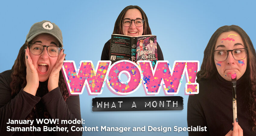 Coal Creative - Wow, What a month! December WOW! model: Samantha Bucher, Content Manager and Design Specialist