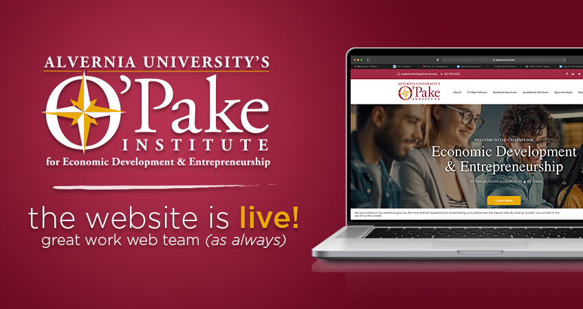 The O'Pake Institute for Economic Development & Leadership website is live!
