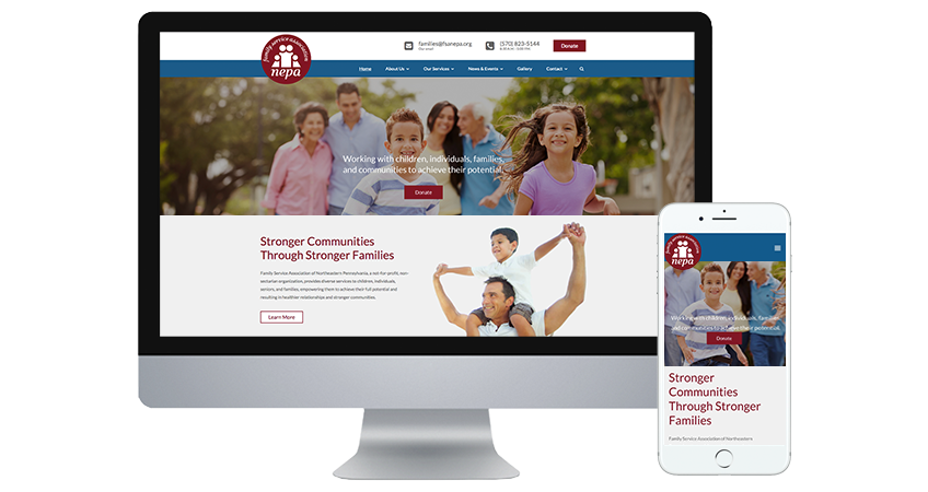 The new website for the Family Service Association NEPA is now live!