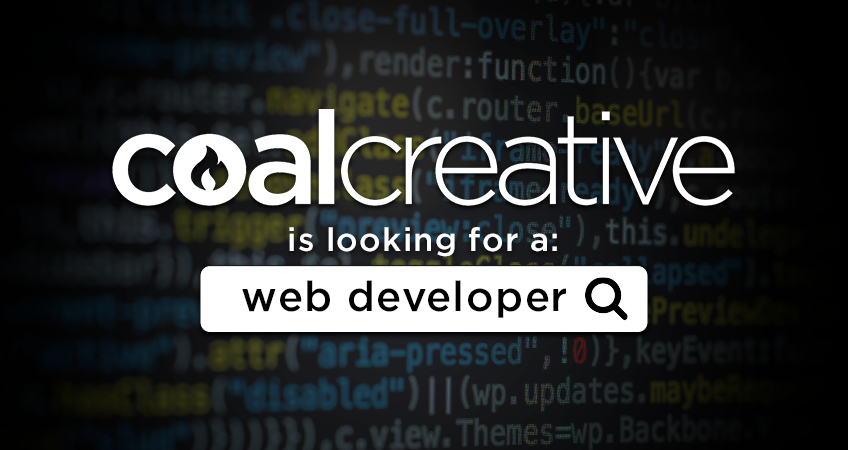 Coal Creatuve is looking for a Web Developer